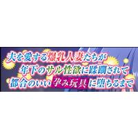 Otto o Aisuru Bakunyuu Hitozuma-tachi ga Toshishita no Saru Seiyoku ni Jurin sarete Tsugou no ii Harami Omocha ni Ochiru Made Image