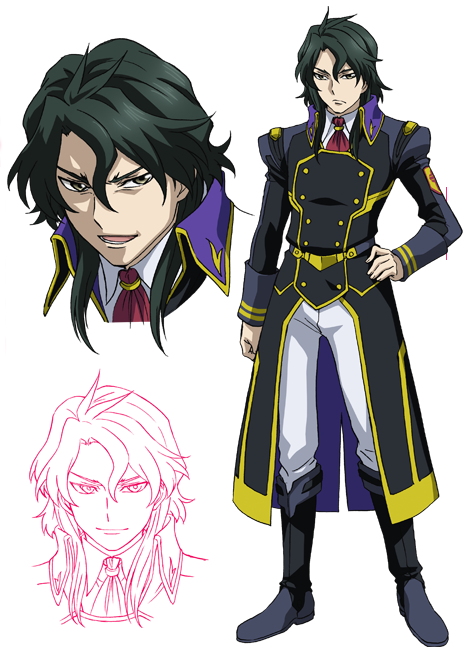 anime guy with black hair and purple eyes