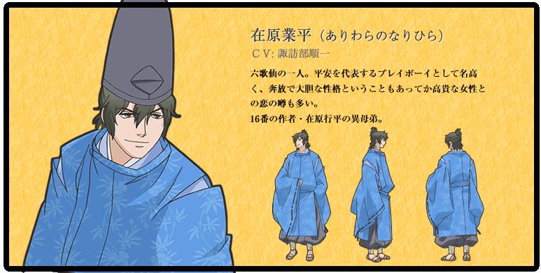 Ariwara No Narihira From Chouyaku Hyakunin Isshu Utakoi